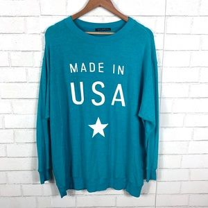 NEW Wildfox USA Made in USA Baggy Beach Jumper